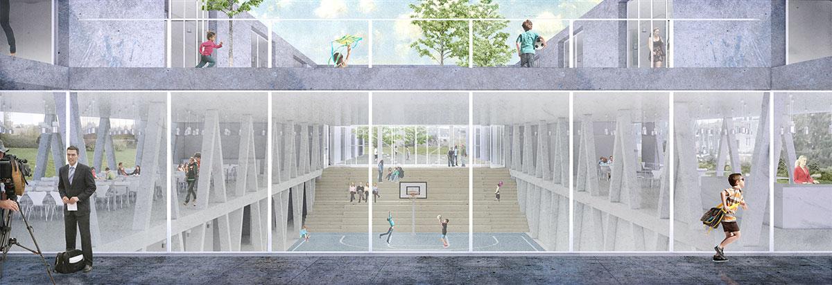 3D visualisatie Scholen van Morgen - Tienen