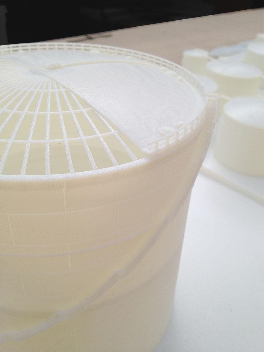 Maquette 3d printing olietanks detail