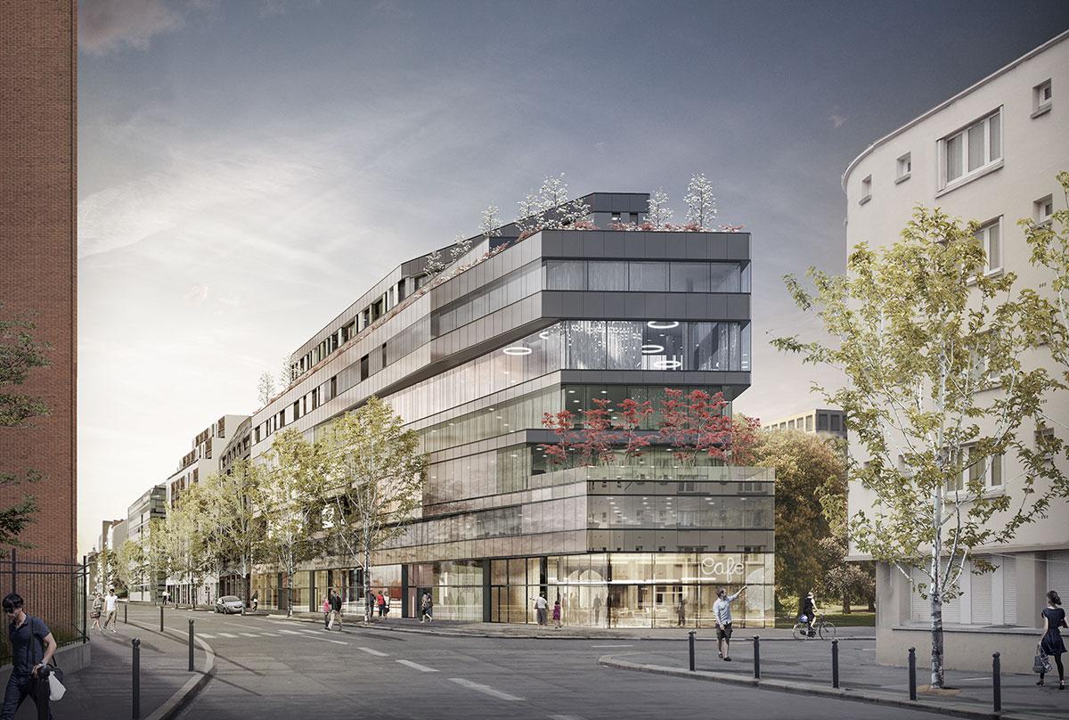 3D visualisatie kantoorcomplex - Rennes