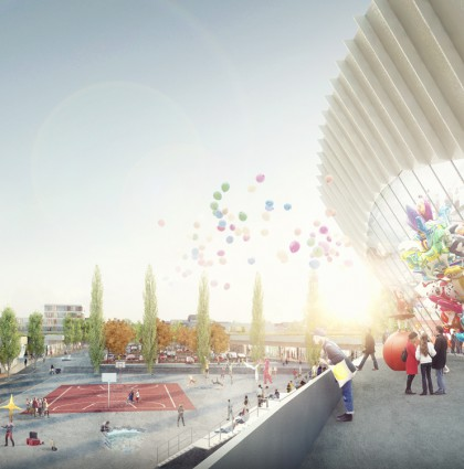 3D visualisatie sportcomplex – Aalst